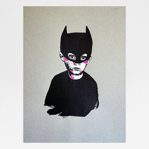 Bat Kid screen print by Marcelina Amelia at Of Cabbages and Kings
