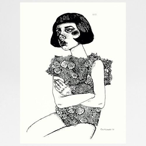 Blossomings screen print by Marcelina Amelia at Of Cabbages and Kings.