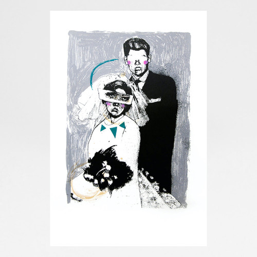 Wedding screen print by Marcelina Amelia at Of Cabbages and Kings