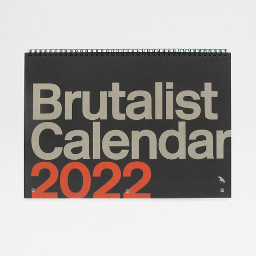 Brutalist Architecture Calendar 2022 Cover by Blue Crow Media at Of Cabbages and Kings