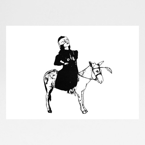 Plain Donkey screen print by Marcelina Amelia at Of Cabbages and Kings