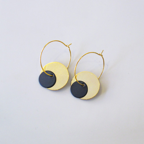 Ninkari Disc Earrings by Brass & Bold at Of Cabbages and Kings