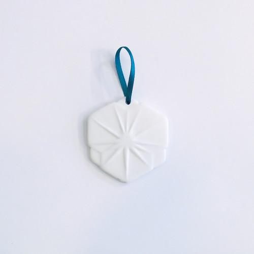 Small Bone China Snowflake Christmas Decoration - Hexagon by Reiko Kaneko at of cabbages and kings