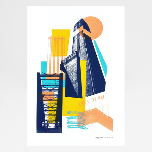 Tate Modern Boiler House print by Underway Studio at Of Cabbages and Kings