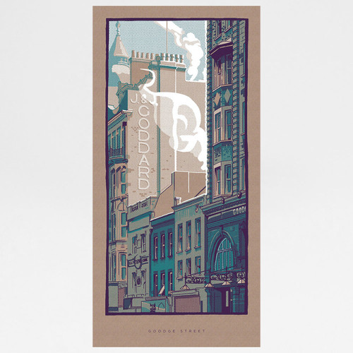 Goodge Street art print by Liam Devereux at Of Cabbages and Kings