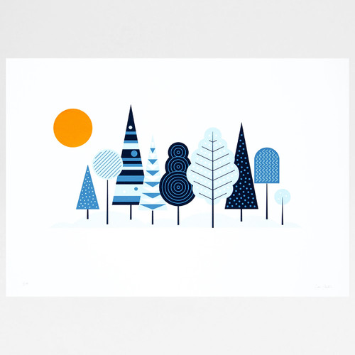 Woodland screen print by The Lost Fox at Of Cabbages and Kings