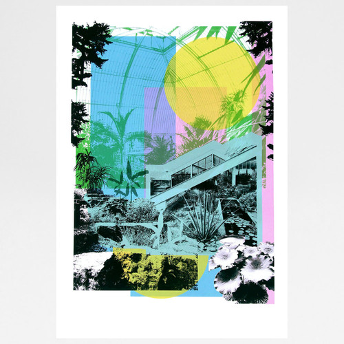 Kew Gardens screen print by Caitlin Parks at Of Cabbages and Kings