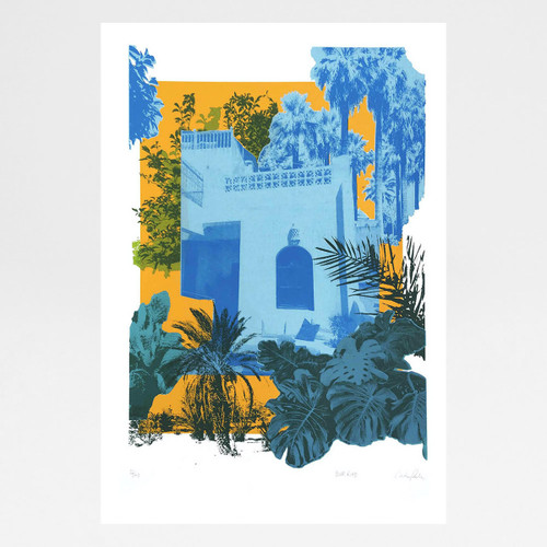 Blue Riad print screen by Caitlin Parks at Of Cabbages and Kings