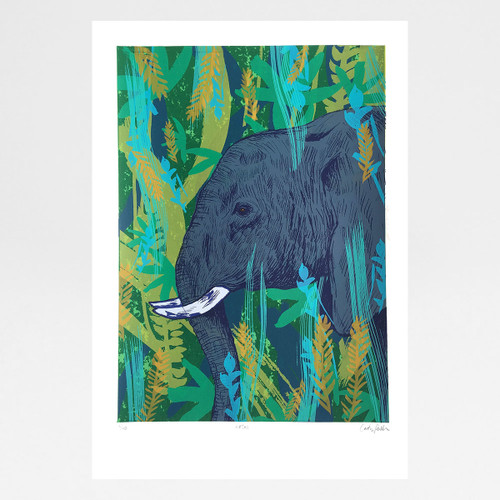 Hathi screen print by Caitlin Parks at Of Cabbages and Kings