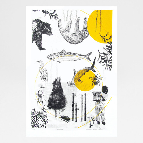 Ecotopia screen print by Underway Studio at Of Cabbages and Kings