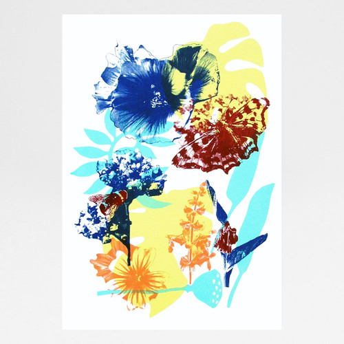Spring Flowers screen print by Melissa North at Of Cabbages and Kings