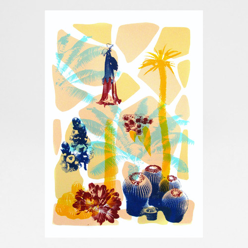 Tropical Flowers screen print by Melissa North at Of Cabbages and Kings