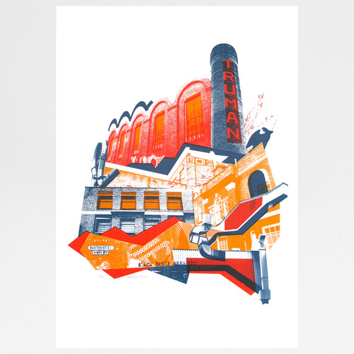 Truman Brewery screen print by Underway Studio at Of Cabbages and Kings