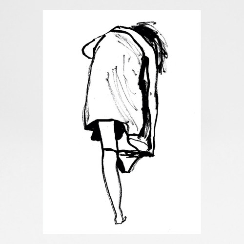 The Ultimate Struggle (Sandy Knickers) print by Emma Unwin at Of Cabbages and Kings