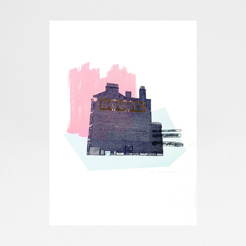 Peachy Bovril screen print by Anna Schmidt available at Of Cabbages and Kings.