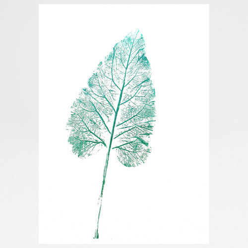 Big Leaf (Comfrey) mono print by Factory Press at Of Cabbages and Kings