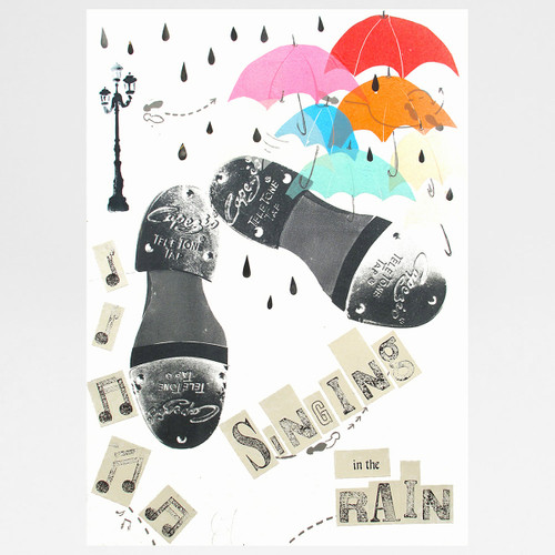 Singing in the Rain collage by Factory Press at Of Cabbages and Kings