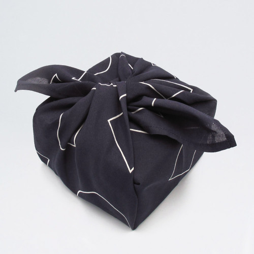 Organic Cotton Wrap - Shapes, Indigo wrapped up by Ola at Of Cabbages and Kings