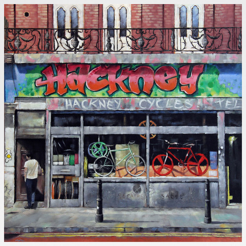 Hackney Cycles art print by Marc Gooderham at Of Cabbages and Kings