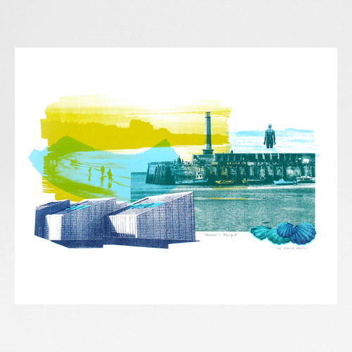 Summer In Margate screen print by Melissa North at Of Cabbages and Kings