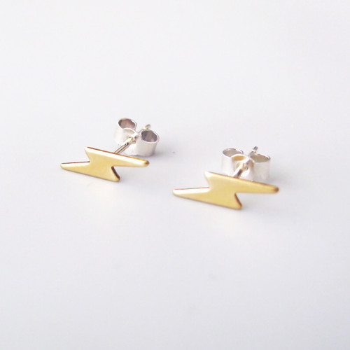 Tiny Lightning Studs by Custom Made at Of Cabbages and Kings