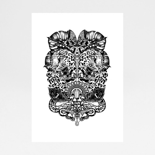 Jewel and Jaguar art print by Emily Carter at Of Cabbages and Kings