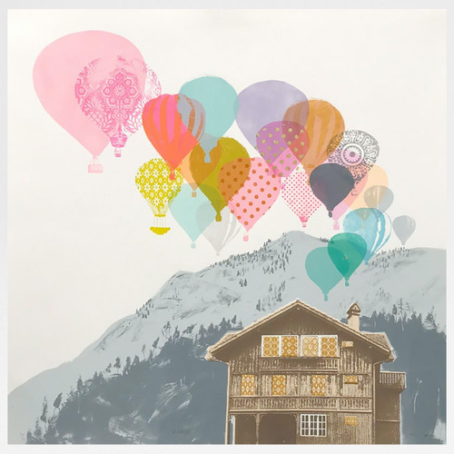 Westerly screen print by Freya Cumming at Of Cabbages and Kings