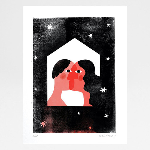 Love is Finding Home in Another risograph print by Anastasia Beltyukova at Of Cabbages and Kings