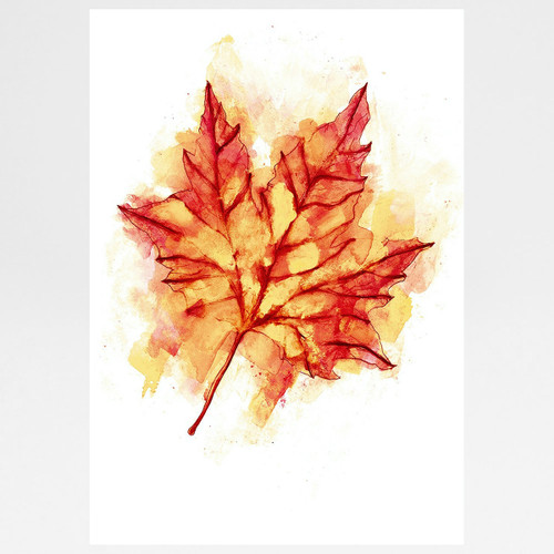 Autumn Leaf screen print by Gavin Dobson at Of Cabbages and Kings