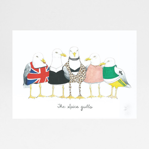 Spice Gulls print by Mister Peebles at Of Cabbages and Kings.