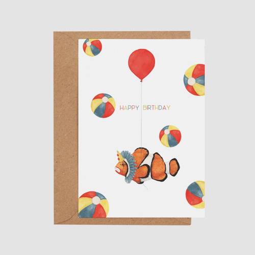 Birthday Clown Card by Mister Peebles at Of Cabbages and Kings