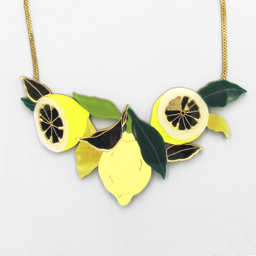 Lemon Grove Necklace by Wolf and Moon at Of Cabbages and Kings