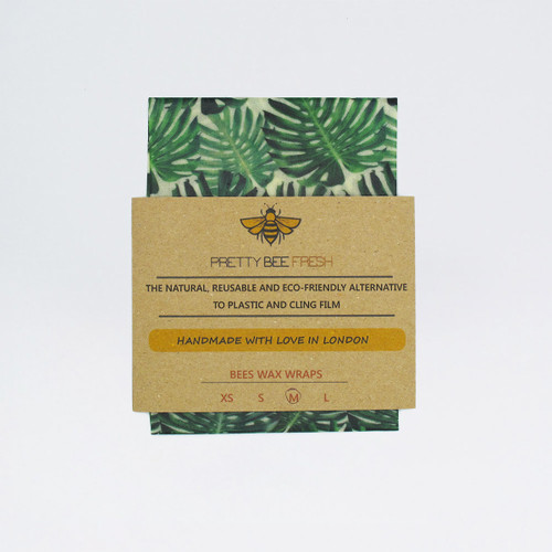 Beeswax Wrap - Green Monstera Print by Pretty Bee Fresh at Of Cabbages and Kings