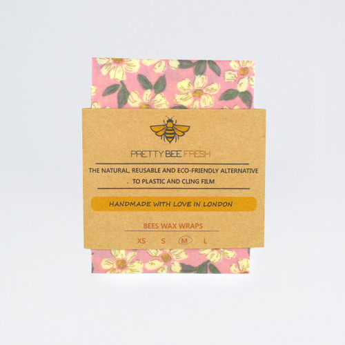 Beeswax Wrap - Blossom Print by Pretty Bee Fresh at Of Cabbages and Kings