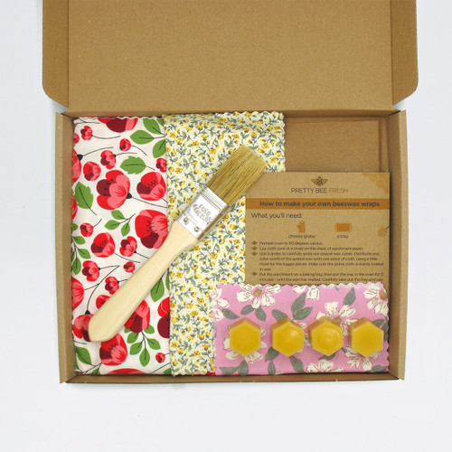 DIY Beeswax Wrap Kit - Floral by Pretty Bee Fresh at Of Cabbages and Kings