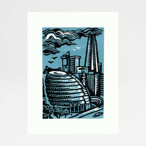 City Hall And Shard print by Jane Smith at Of Cabbages and Kings