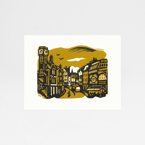 Heath Street, Hampstead print by Jane Smith at Of Cabbages and Kings