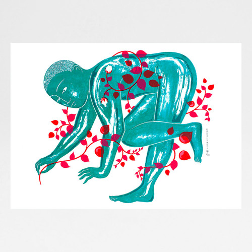 Garden Man II screen print by Tom Berry at Of Cabbages and Kings