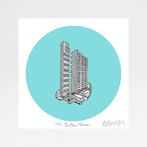 Balfron Tower screen print by Will Clarke at Of Cabbage and Kings