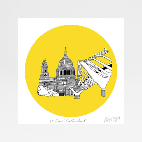St Pauls Cathedral screen print by Will Clarke at Of Cabbage and Kings
