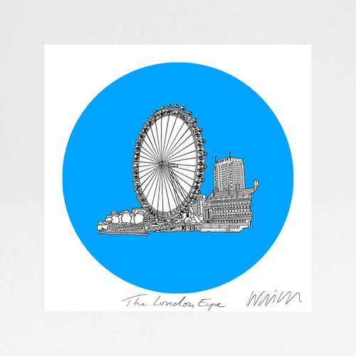 London Eye screen print by Will Clarke at Of Cabbage and Kings