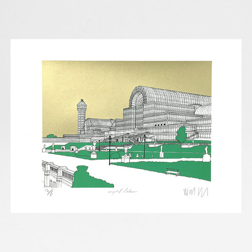 Crystal Palace - Gold screen print by Will Clarke at Of Cabbages and Kings
