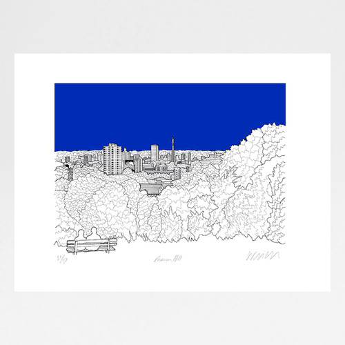 Primrose Hill screen print by Will Clarke at Of Cabbages and Kings