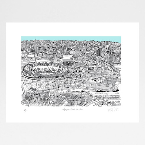 Olympic Park screen print by Will Clarke at Of Cabbages and Kings