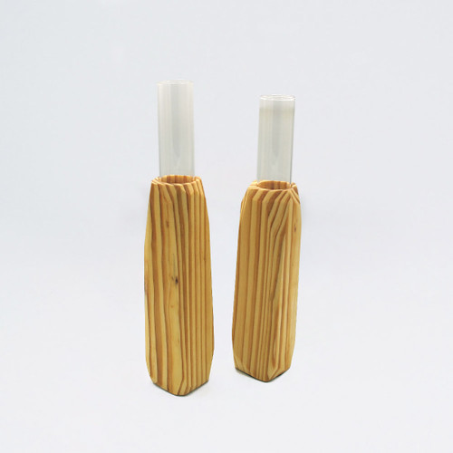 Small Light Wooden Vase
