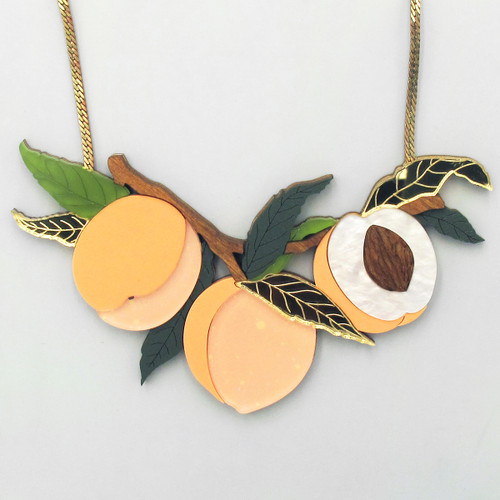 Peach Tree Necklace by Wolf and Moon at Of Cabbages and Kings