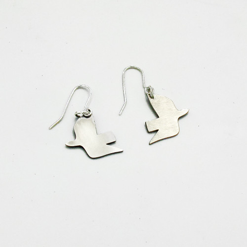 Dove Earrings - Steel by Pivot at Of Cabbages and Kings