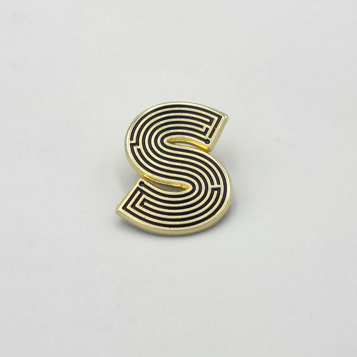 Labyrinth Letter Pin - S by Seven Green Moons at Of Cabbages and Kings