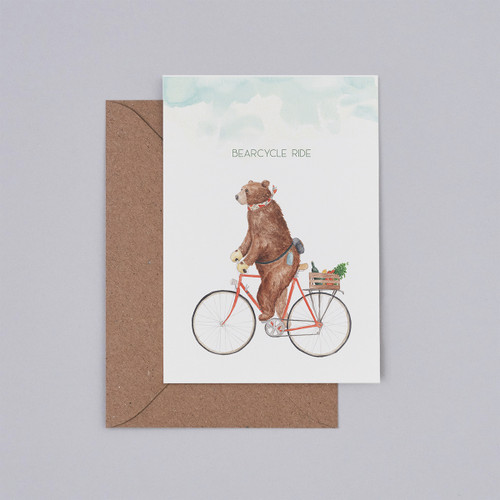 Bearcycle Ride Card by Mister Peebles at Of Cabbages and Kings