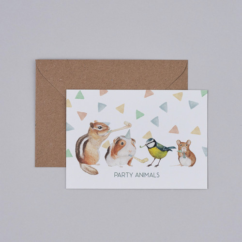 Party Animals Card by Mister Peebles at Of Cabbages and Kings